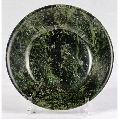 A Spinach Nephrite Jade Dish, 18th Century