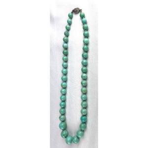 Rare Collier En Turquoises Chinoises Anciennes