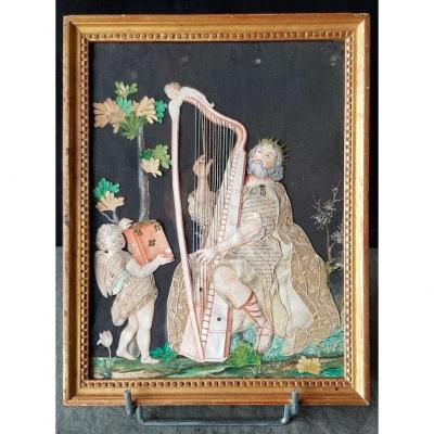 Gouache Dressed In Silks Period 18th Century