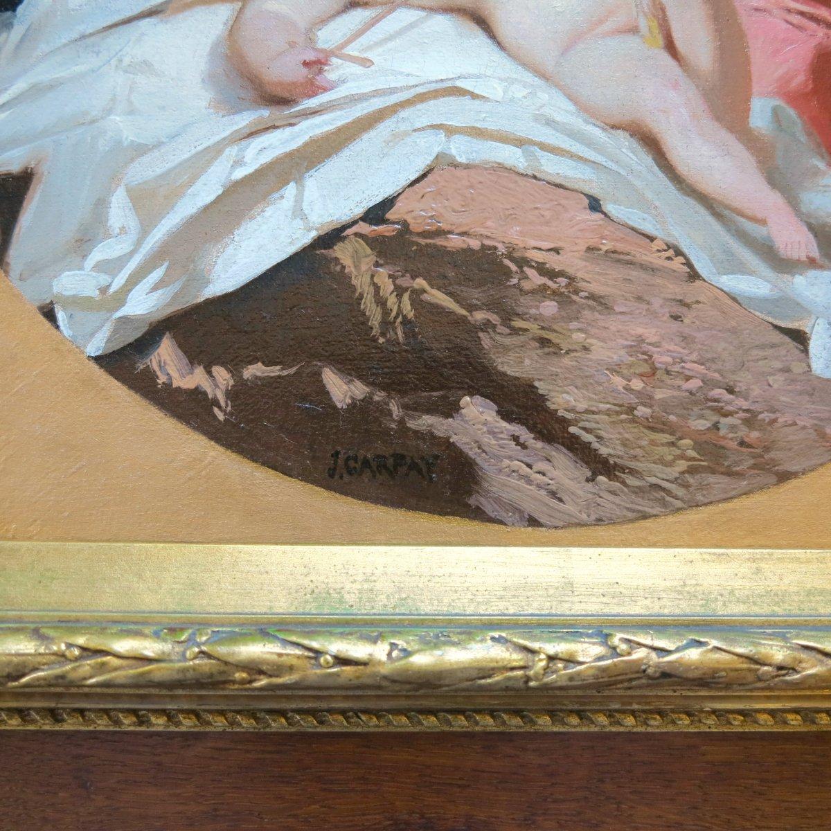Paul Joseph Carpay (1822-1892) - Un ange de plus au ciel - Huile sur toile-photo-3