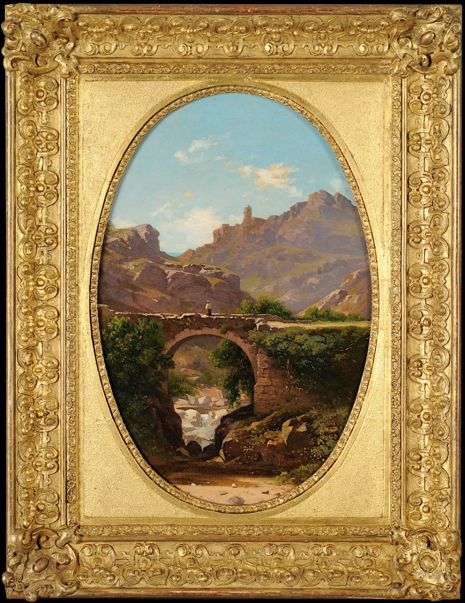 Antoine Claude Ponthus-cinier (1812 – 1885) - Panorama De Malleval, Loire - Huile