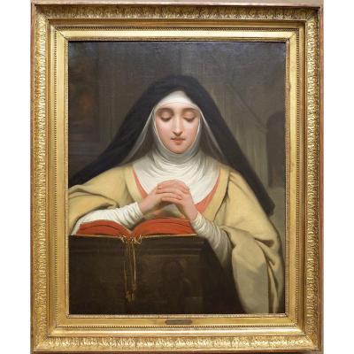 Raymond-auguste-quinsac Monvoisin (1790 -1870) - Sainte Thérèse