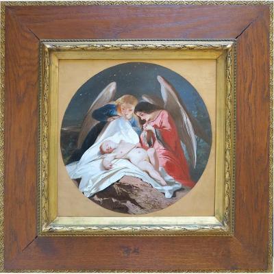 Paul Joseph Carpay (1822-1892) - Un ange de plus au ciel - Huile sur toile