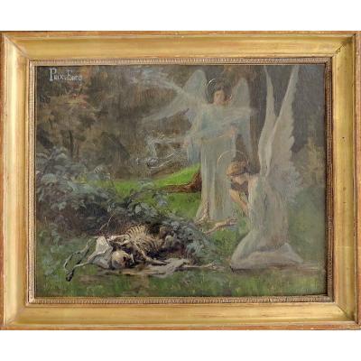 René Charles Edmond His (1877-1960) - All Saints - Oil On Canvas