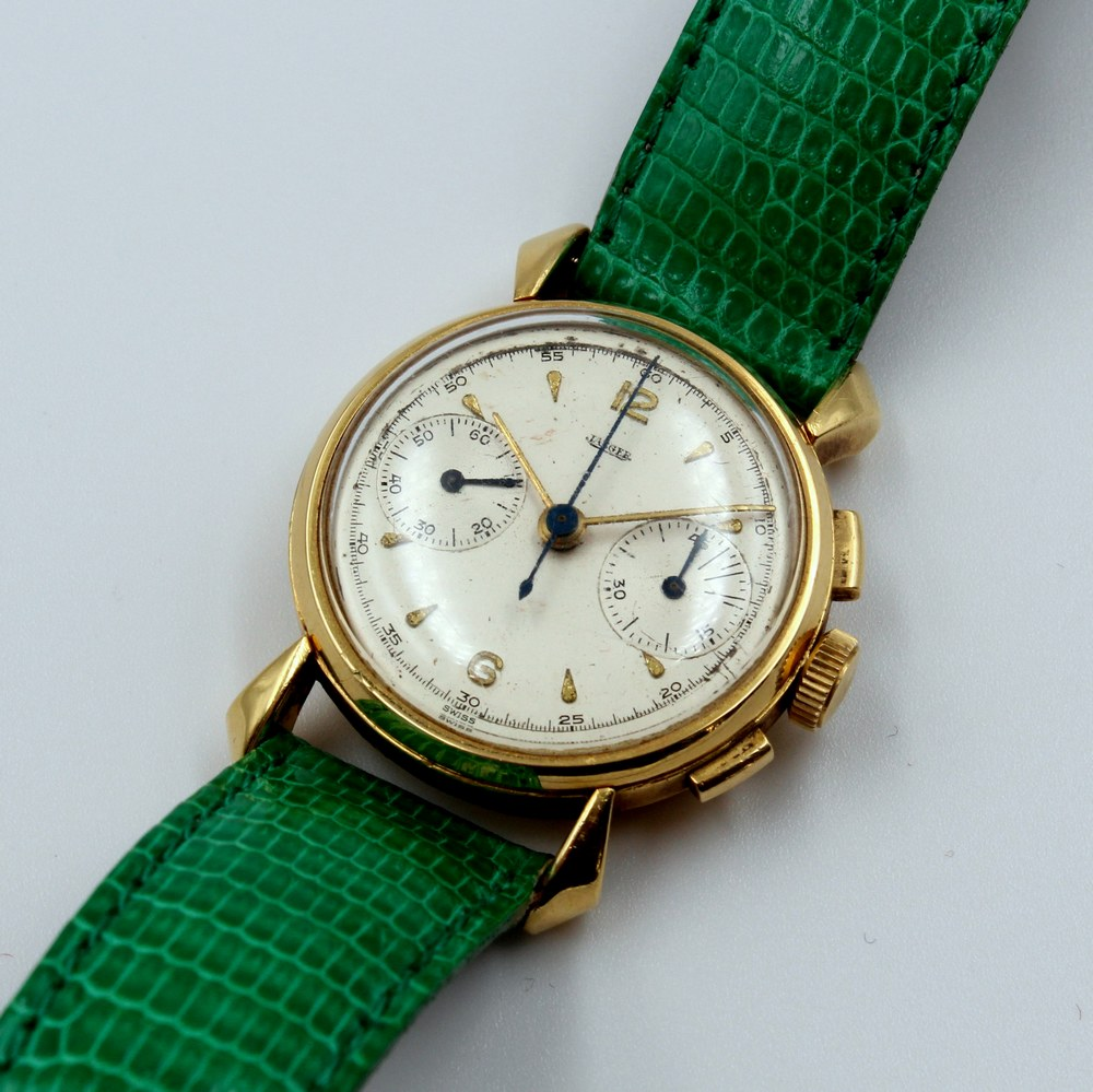 Jaeger Watch Chrono Yellow Gold Case