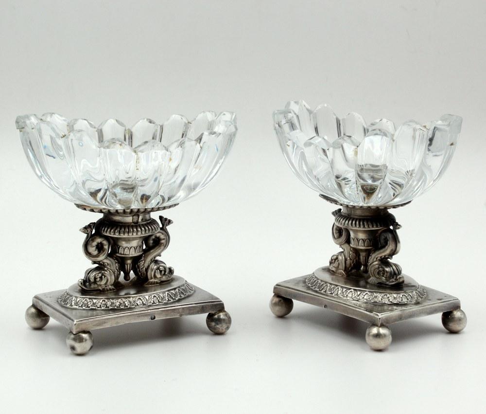 Pair Of Salerons Dauphins Paris 1819/1838