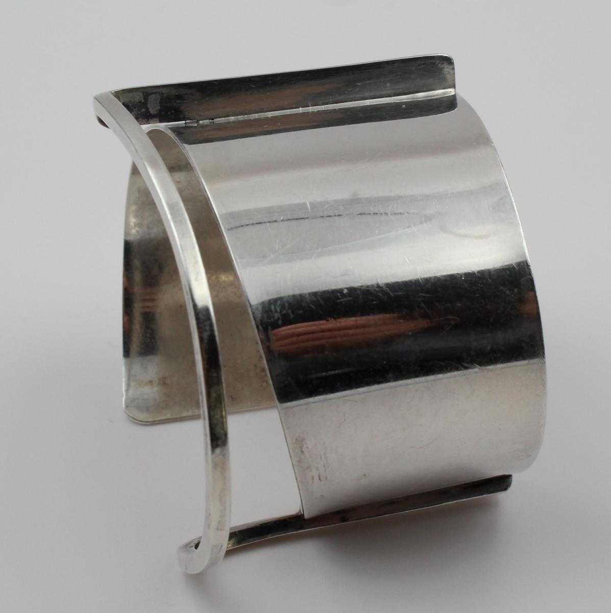 ED. WIENER bracelet manchette moderniste en argent