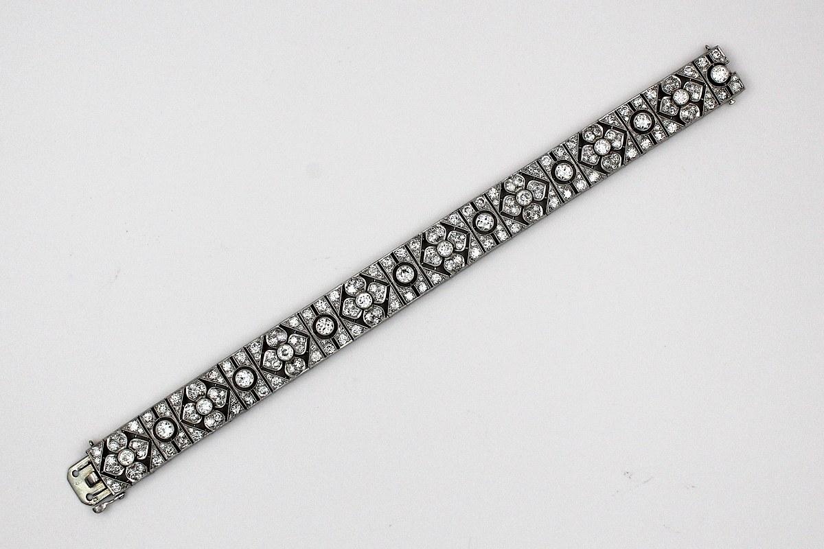 Art Deco Ribbon Bracelet
