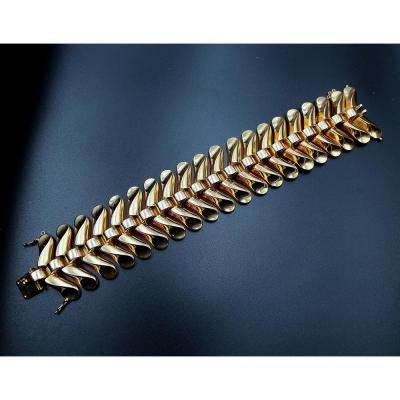 Bracelet Ruban Articulé Art Déco