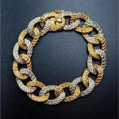 Bracelet chaîne en deux ors