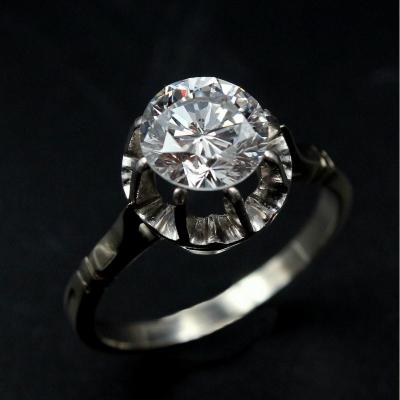 Bague brillant solitaire 1.56 ct D Si1