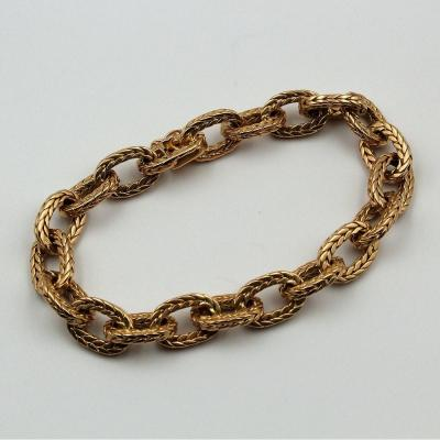 Chain Bracelet In Yellow Gold.