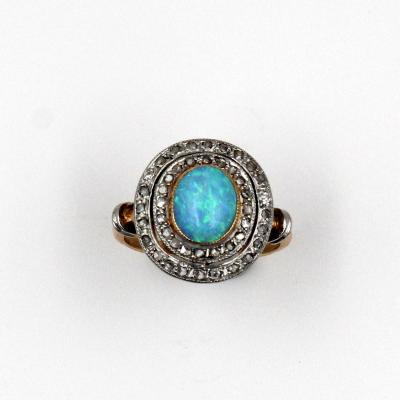 Opal Ring And Diamonds