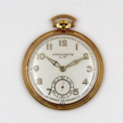 Lip Yellow Gold Pocket Watch