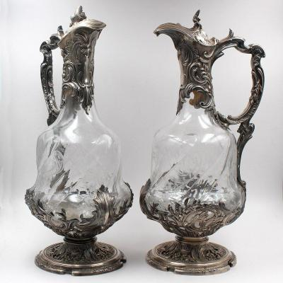 Boulenger - Pair Of Wine Decanters