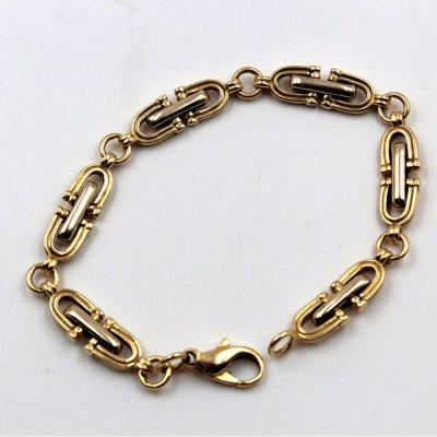 Chain Bracelet In Two Golds