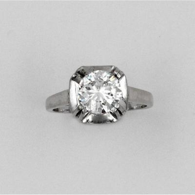 Bague brillant solitaire 1.66 ct
