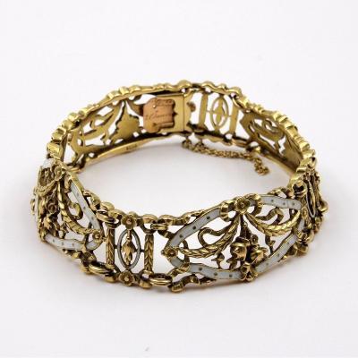 Lucien Gautrait (1865/1937) - Bracelet Ruban Articulé