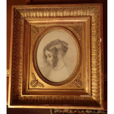 Litho Portrait And Its Golden Wood Frame