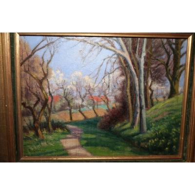 Painting Signed Henry Gaulet
