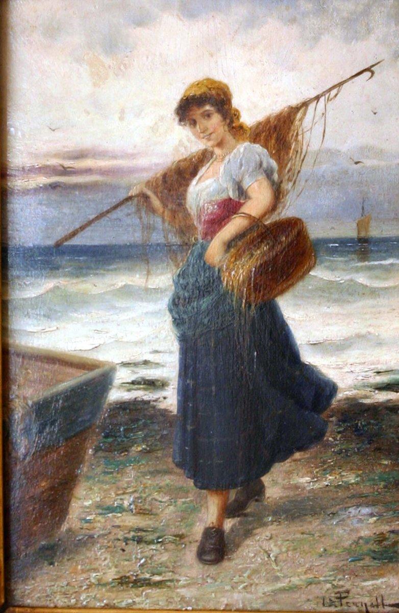 The Return Of Fishing, XIXth Century, L.pernett