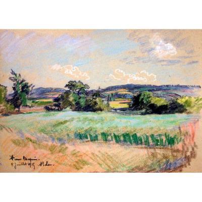 Pierre Chapuis, paysage de Saint-Leu, 1915
