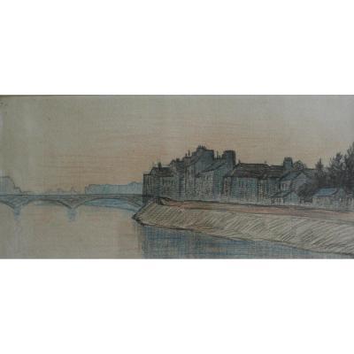 Léo Gausson, Landscape Of Lagny Sur Marne