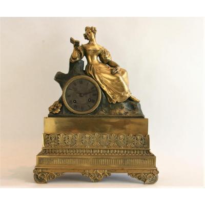 Pendule romantique, c.1830, bronze doré