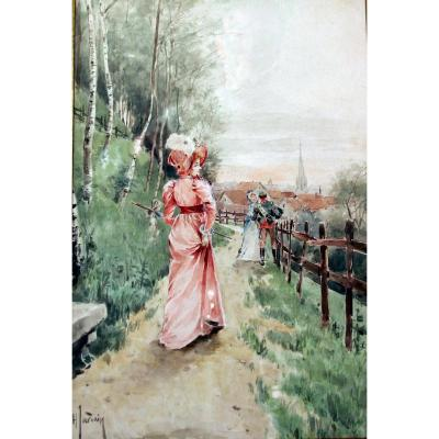 Henri Jourdain, la promenade, c.1900