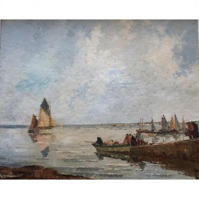 Robert Yan, départ pour la pêche en Bretagne.