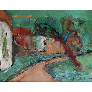 Wladimir de Terlikowski, l'arbre à l'entrée du village