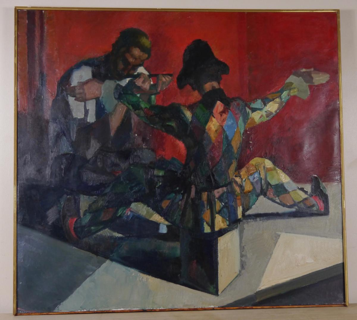 Joseph Desmedt (né En 1894) - Scène Pantin
