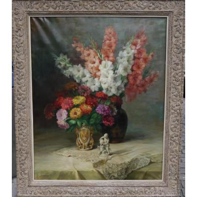 Julien Stappers (1875-1960), Nature Morte Aux Fleurs