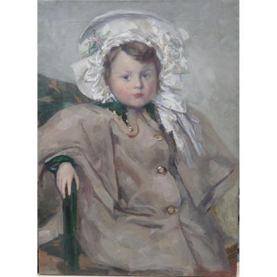 Hubert Glansdorff (1877-1963), Portrait d'Une Petite Fille