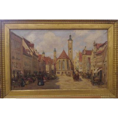 Richard Lipps - Scène Place En Ville (1857–1926)