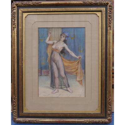 Armand Henrion (1875-1958) - Portrait Femme Nue