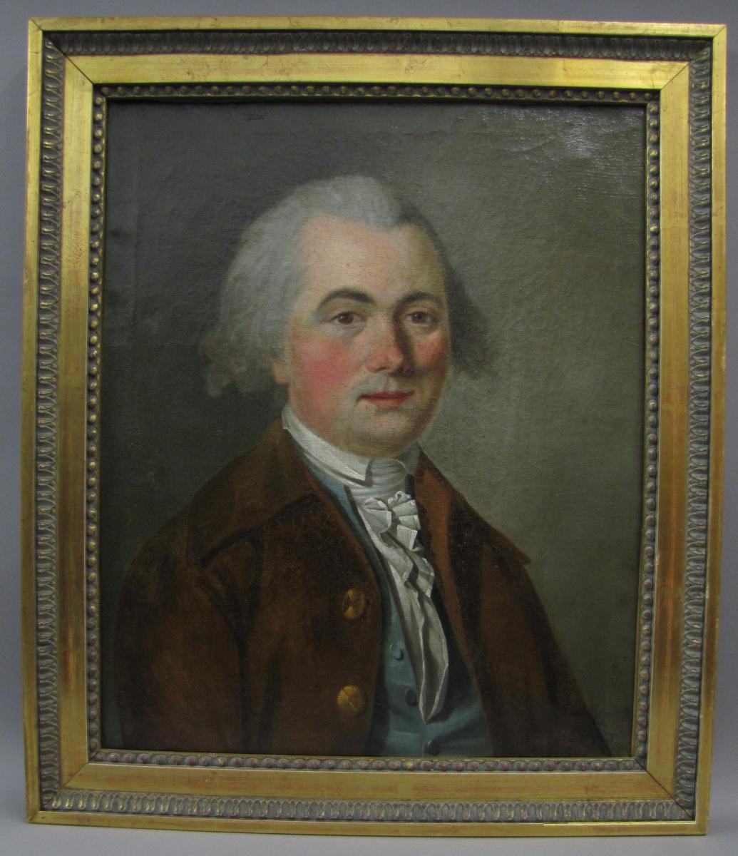 Portrait De Gentilhomme, Ecole Française Fin XVIIIe