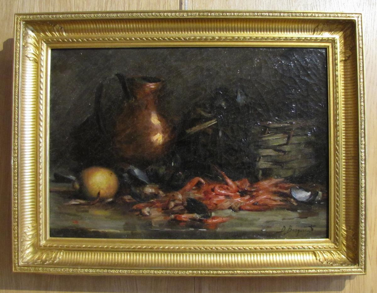 Nature Morte  Signé Denis Bergeret 1844/ 1910