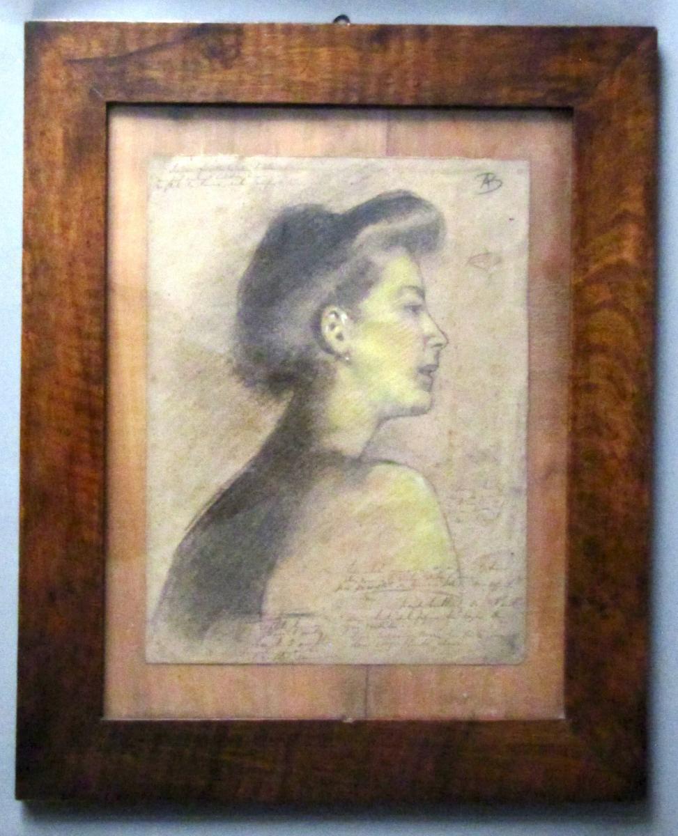 Dessin XIXè Siècle - Portrait De Femme