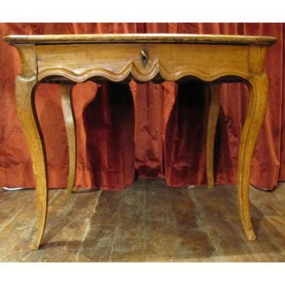 Table Bureau En Merisier d'époque Louis XV