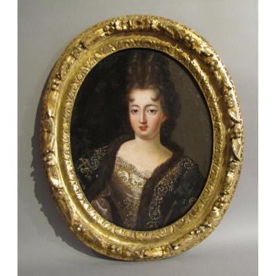Portrait Of Mademoiselle De Blois. Atelier De Pierre Mignard.
