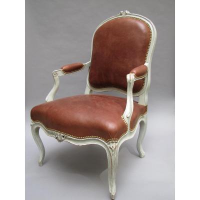 Louis XV Armchair, Stamped P. Bara