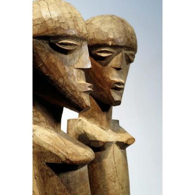 Couple De Figures Lobi. Burkina Faso