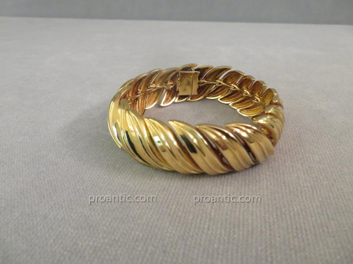 Link Bracelet Epis Yellow Gold