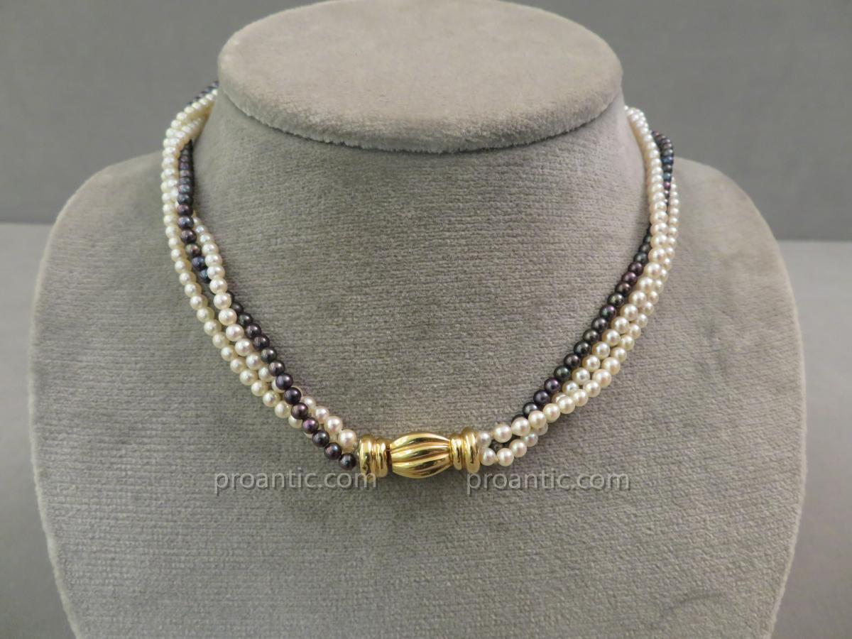 Collier Trois Rangs De Perles