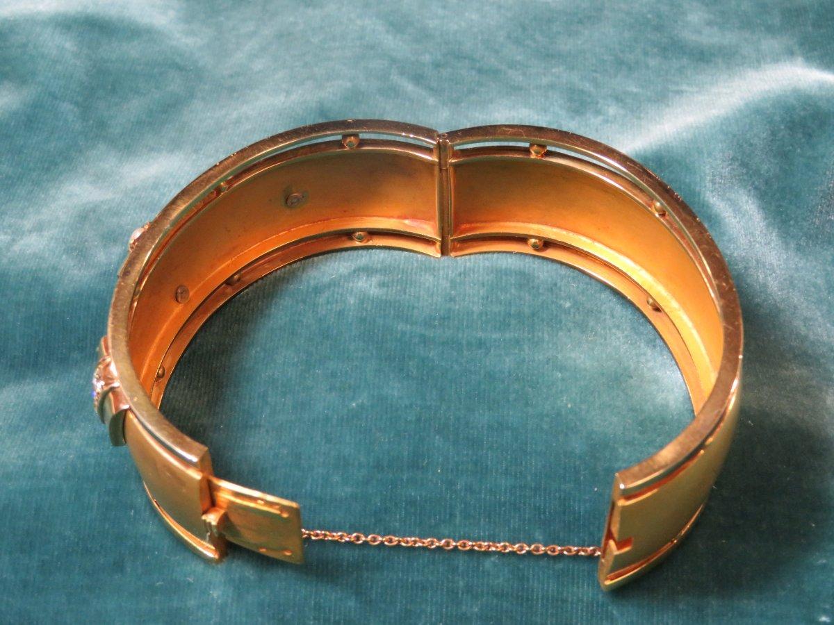 Bracelet Or Napoléon III-photo-4