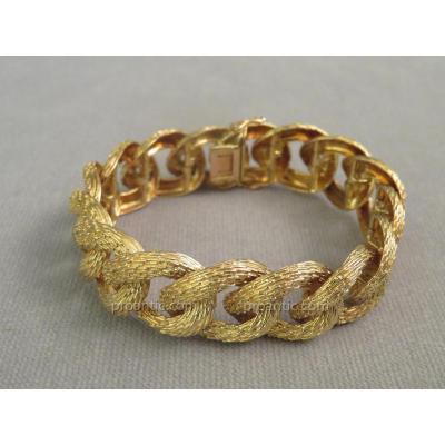 Bracelet Or Jaune Texturé