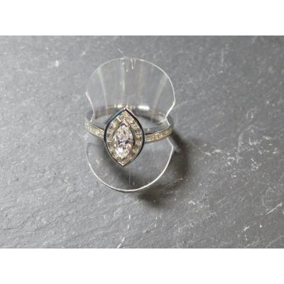 Bague Diamant Navette