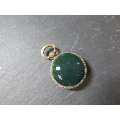 Blood Jasper Pocket Watch