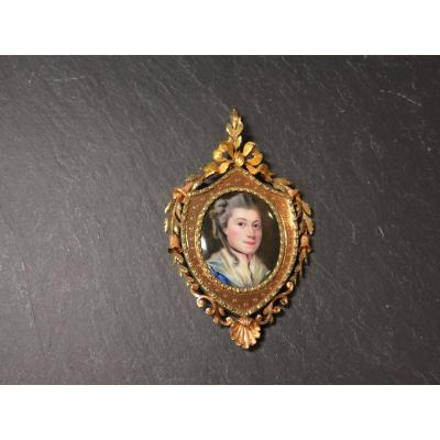 Two Gold And Enamel Pendant